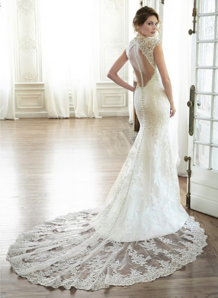 Back of Melitta Wedding Dress - Maggie Sottero Spring 2015 Bridal Collection
