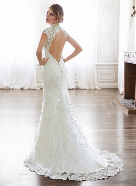 Back of Melitta Marie Wedding Dress - Maggie Sottero Spring 2015 Bridal Collection