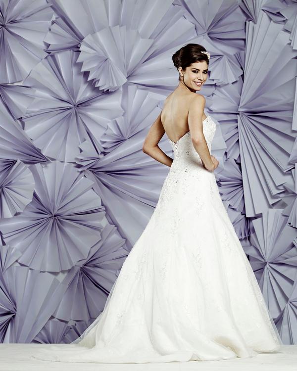 Back of Memphis Wedding Dress - Heritage Balbier-Wyatt 2015 Bridal Collection