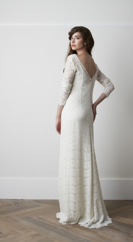 Back of Neru Wedding Dress - Charlie Brear 2015 Bridal Collection