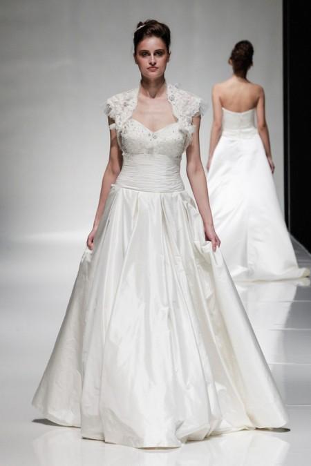 Ophelia Wedding Dress with Ophelia Shrug - Alan Hannah Floral Symphony 2015 Bridal Collection