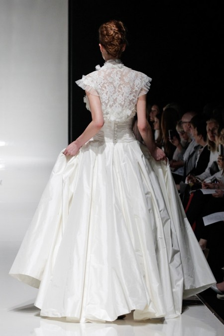 Back of Ophelia Wedding Dress with Ophelia Shrug - Alan Hannah Floral Symphony 2015 Bridal Collection