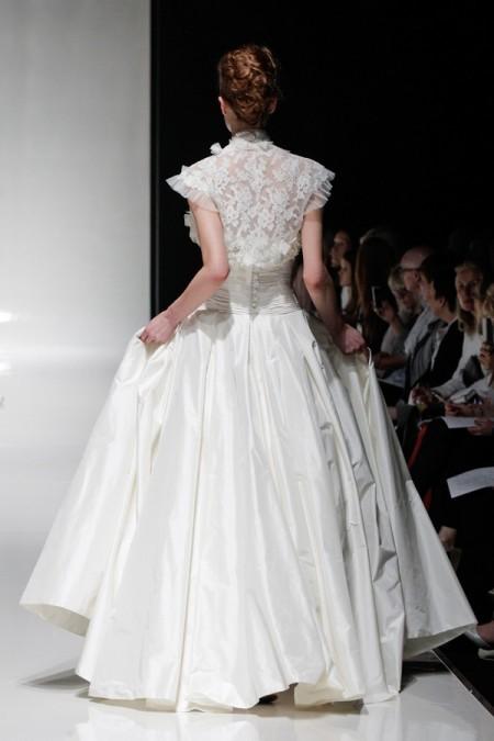 Back of Ophelia Wedding Dress with Ophelia Shrug - Alan Hannah Floral Symphony 2015 Bridal Collection