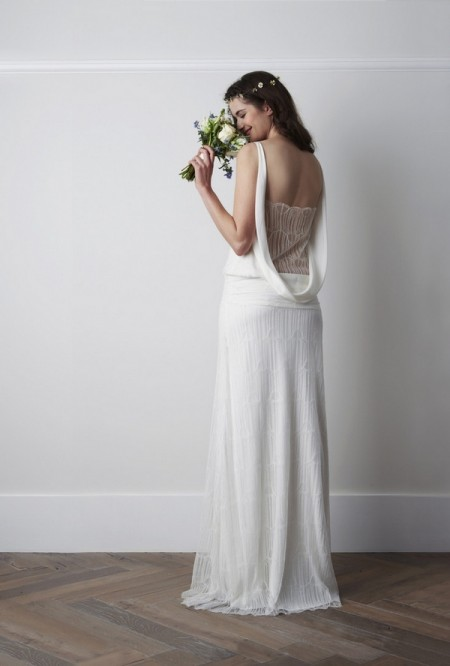 Back of Oribe Wedding Dress - Charlie Brear 2015 Bridal Collection