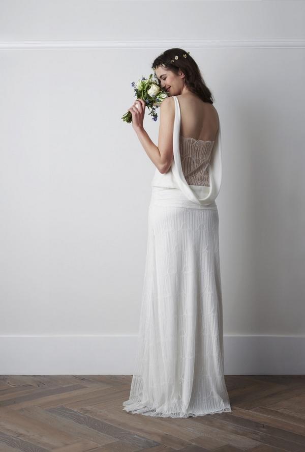 Back of Oribe Wedding Dress - Charlie Brear 2015 Bridal Collection