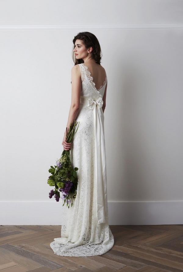 Back of Pettine Versailles Wedding Dress - Charlie Brear 2015 Bridal Collection