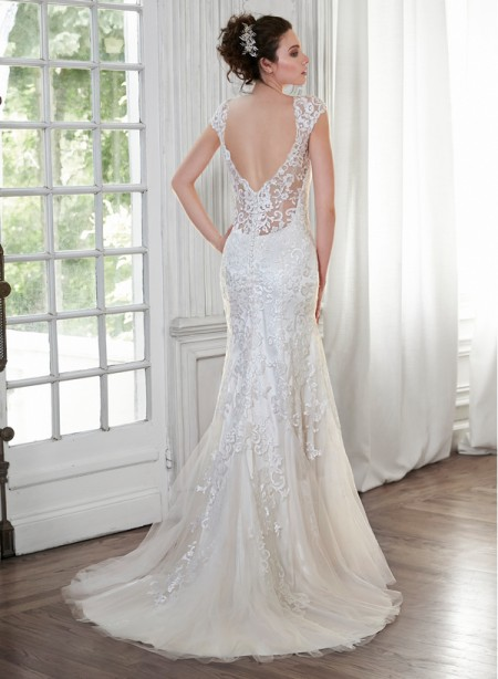 Back of Petunia Wedding Dress - Maggie Sottero Spring 2015 Bridal Collection