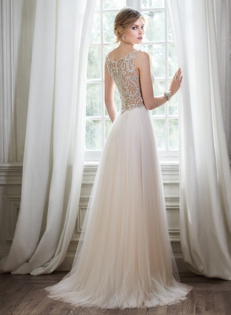 Back of Phyllis Wedding Dress - Maggie Sottero Spring 2015 Bridal Collection