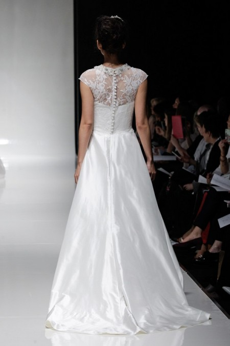 Back of Sandalwood Wedding Dress - Alan Hannah Floral Symphony 2015 Bridal Collection