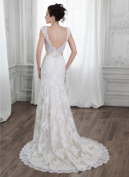 Back of Shayla Wedding Dress - Maggie Sottero Spring 2015 Bridal Collection