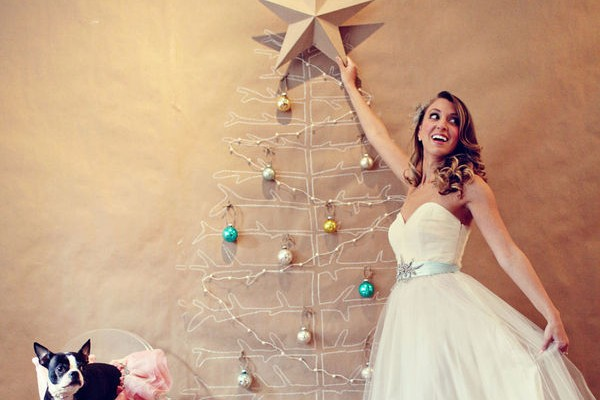 Sparkling Christmas Inspired Wedding Styling