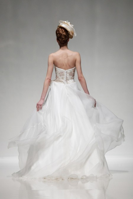 Back of Summer Wedding Dress - Alan Hannah Floral Symphony 2015 Bridal Collection
