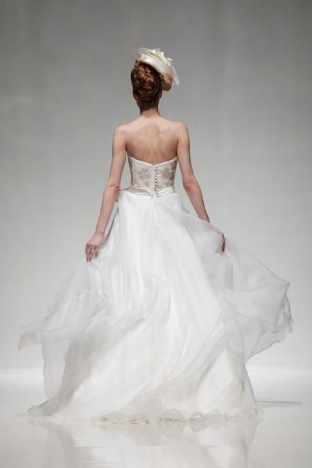 Back of Summer Wedding Dress - Alan Hannah Floral Symphony 2015 Bridal Collection