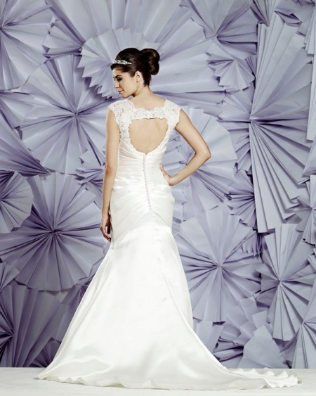 Back of Valencia Wedding Dress - Heritage Balbier-Wyatt 2015 Bridal Collection