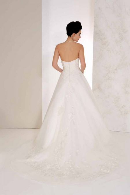 Back of Valencia Wedding Dress - Karen George for Benjamin Roberts 2015 Bridal Collection