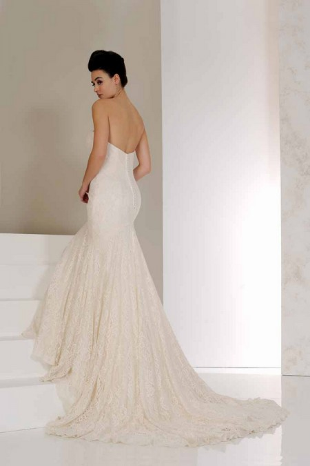 Back of Vanilla Wedding Dress - Karen George for Benjamin Roberts 2015 Bridal Collection
