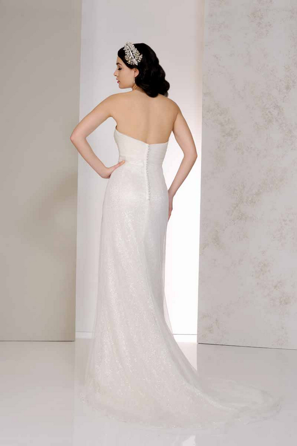 Back of Vanity Wedding Dress - Karen George for Benjamin Roberts 2015 Bridal Collection