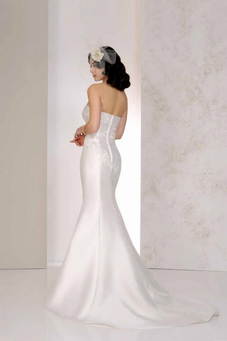 Back of Vanya Wedding Dress - Karen George for Benjamin Roberts 2015 Bridal Collection