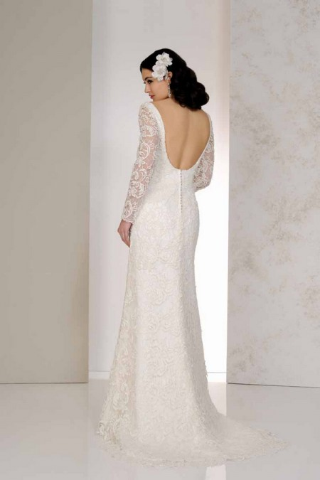 Back of Velora Wedding Dress - Karen George for Benjamin Roberts 2015 Bridal Collection