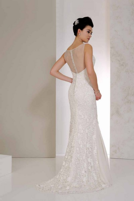 Back of Venice Wedding Dress - Karen George for Benjamin Roberts 2015 Bridal Collection