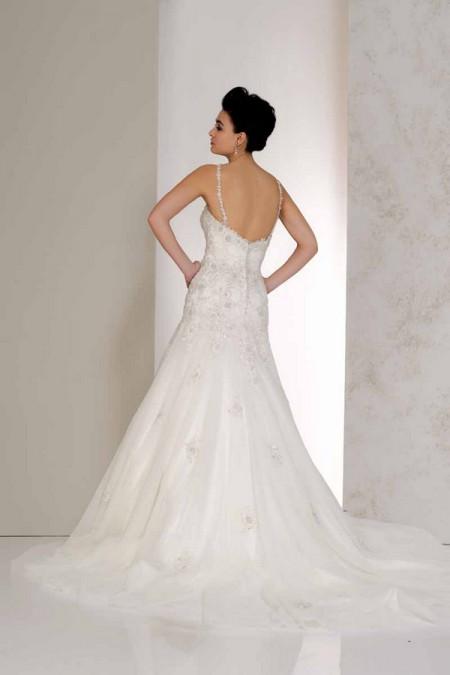 Back of Verity Wedding Dress - Karen George for Benjamin Roberts 2015 Bridal Collection