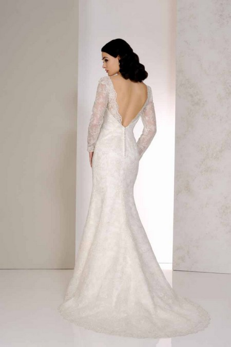 Back of Veronica Wedding Dress - Karen George for Benjamin Roberts 2015 Bridal Collection