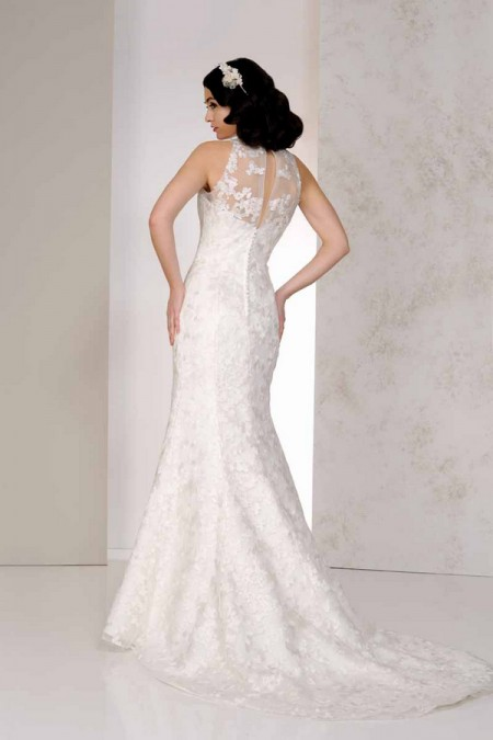 Back of Victoria Wedding Dress - Karen George for Benjamin Roberts 2015 Bridal Collection