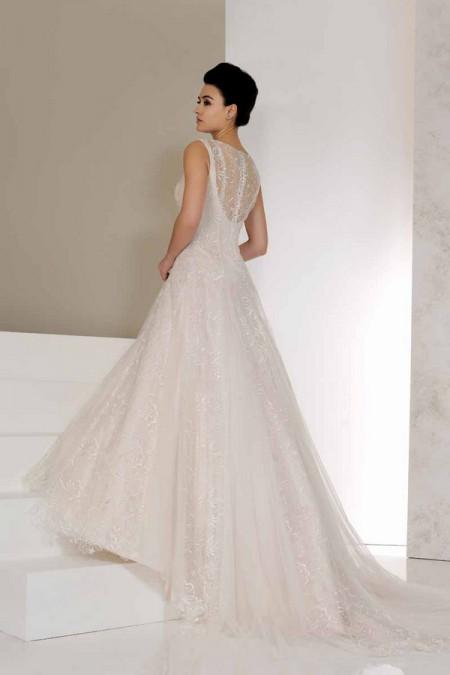 Back of Vienna Wedding Dress - Karen George for Benjamin Roberts 2015 Bridal Collection