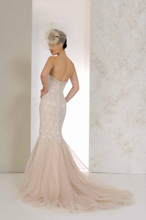 Back of Viola Wedding Dress - Karen George for Benjamin Roberts 2015 Bridal Collection