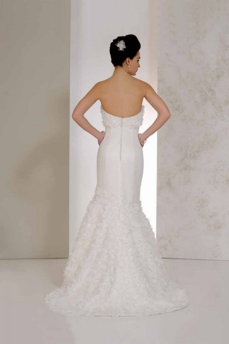 Back of Virginia Wedding Dress - Karen George for Benjamin Roberts 2015 Bridal Collection