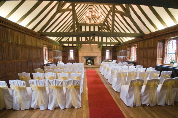 Wedding Ceremony in Leez Priory Great Hall