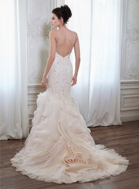 Back of Yasmina Wedding Dress - Maggie Sottero Spring 2015 Bridal Collection