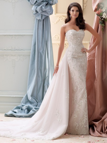 115225 - Cielo Wedding Dress - David Tutera for Mon Cheri Spring 2015 Bridal Collection
