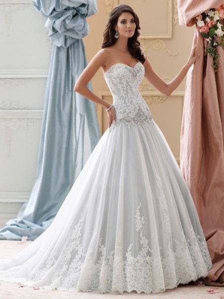 115228 - Ocean Wedding Dress - David Tutera for Mon Cheri Spring 2015 Bridal Collection