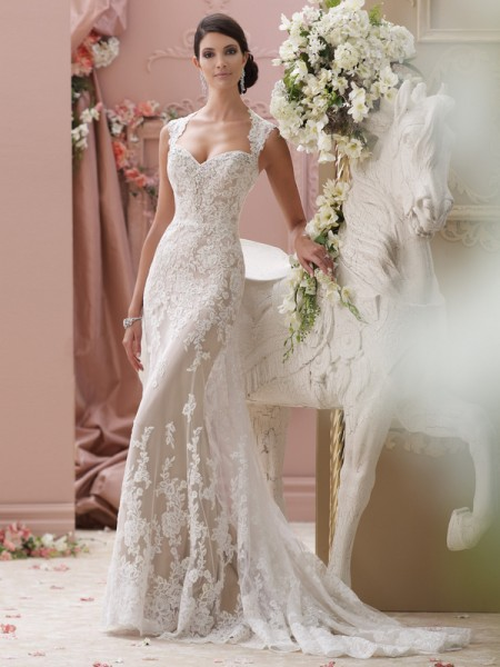 115229 - Lourdes Wedding Dress - David Tutera for Mon Cheri Spring 2015 Bridal Collection