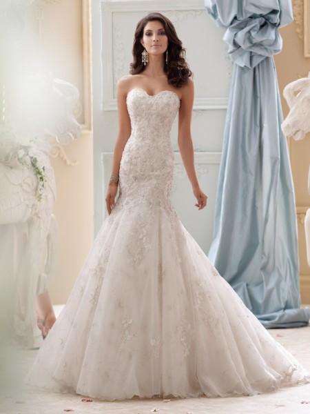 115232 - Gia Wedding Dress - David Tutera for Mon Cheri Spring 2015 Bridal Collection