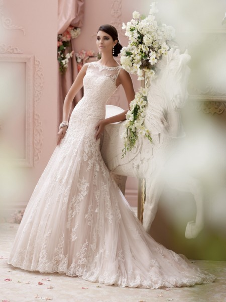 115234 - Locklyn Wedding Dress - David Tutera for Mon Cheri Spring 2015 Bridal Collection