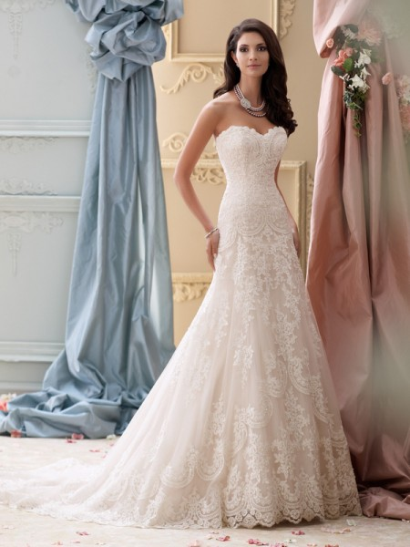 115237 - Justice Wedding Dress - David Tutera for Mon Cheri Spring 2015 Bridal Collection