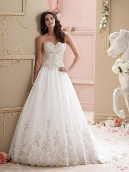 115238 - Wynter Wedding Dress - David Tutera for Mon Cheri Spring 2015 Bridal Collection