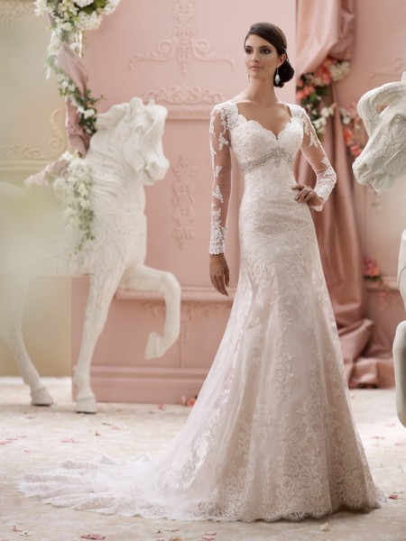 115240 - Finley Wedding Dress - David Tutera for Mon Cheri Spring 2015 Bridal Collection