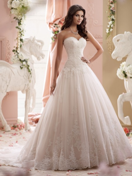 115241 - Lucien Wedding Dress - David Tutera for Mon Cheri Spring 2015 Bridal Collection