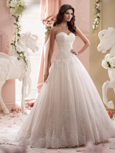 115241 - Lucien Wedding Dress - David Tutera for Mon Cheri Spring 2015 Bridal Collection