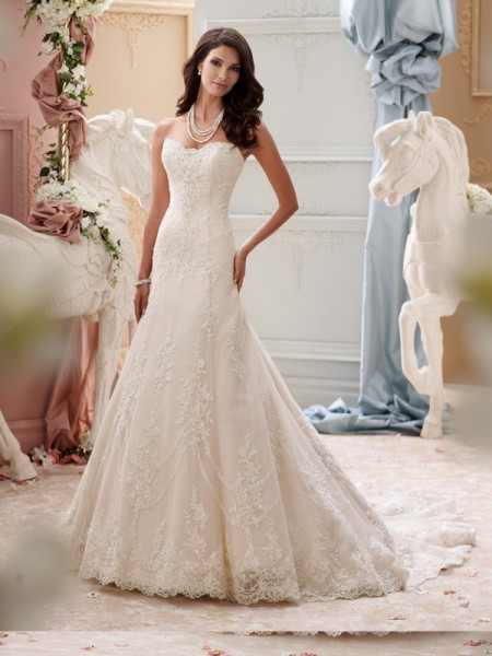 115245 - Indiana Wedding Dress - David Tutera for Mon Cheri Spring 2015 Bridal Collection