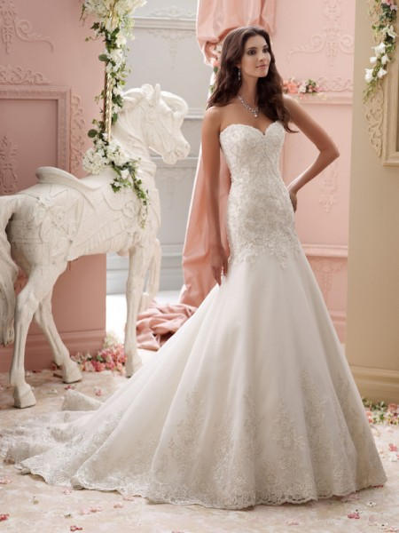 115247 - Chianna Wedding Dress - David Tutera for Mon Cheri Spring 2015 Bridal Collection