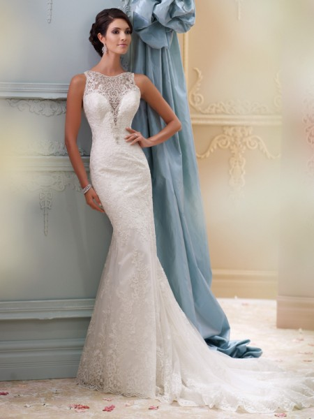 115248 - Athena Wedding Dress - David Tutera for Mon Cheri Spring 2015 Bridal Collection