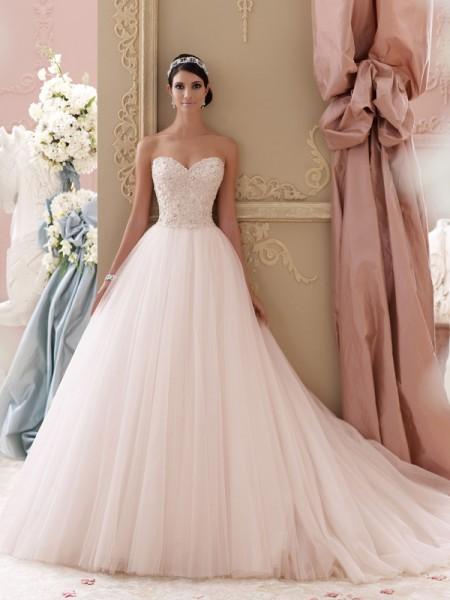 115250 - Luca Wedding Dress - David Tutera for Mon Cheri Spring 2015 Bridal Collection