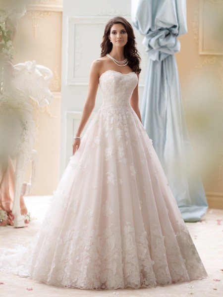115253 - Paris Wedding Dress - David Tutera for Mon Cheri Spring 2015 Bridal Collection