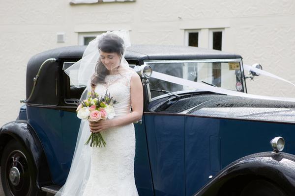 Bride next to wedding c\r