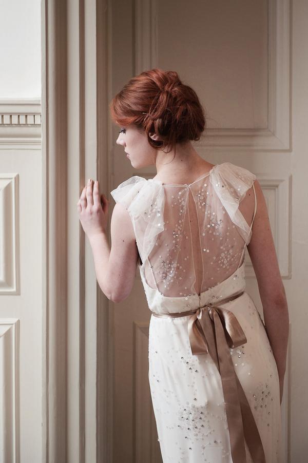 Back of bride's Jenny Packham Callie dress