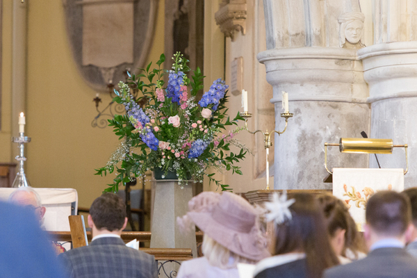 Floral display in church